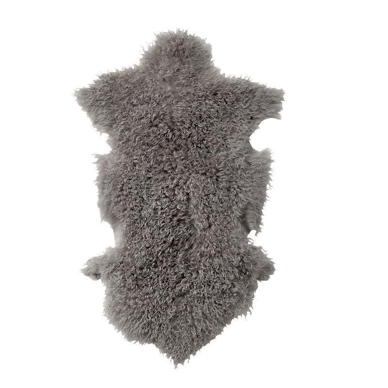 Bloomingville-collectie Naduk Skin Grey Lambskin Mongolian