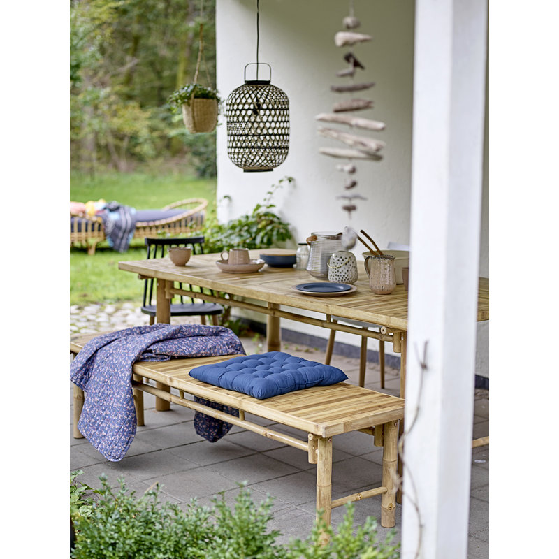 Bloomingville-collectie Tuinstoel Bajo wit
