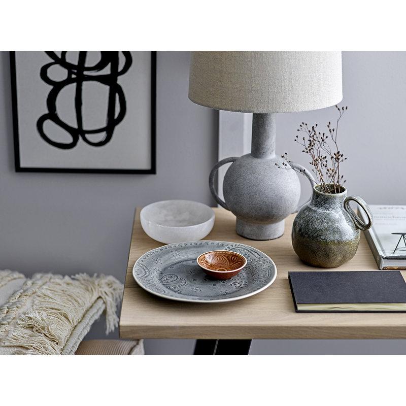 Bloomingville-collectie Tafellamp grijs terracotta