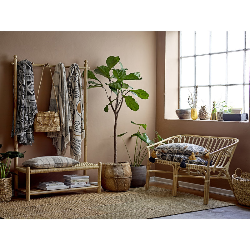 Bloomingville-collectie Abel Bench Nature Cane