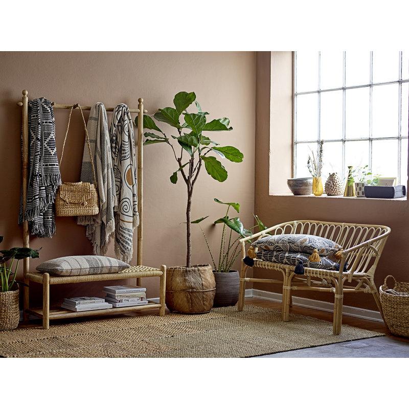 Bloomingville-collectie Bank Abel met kapstok naturel hout