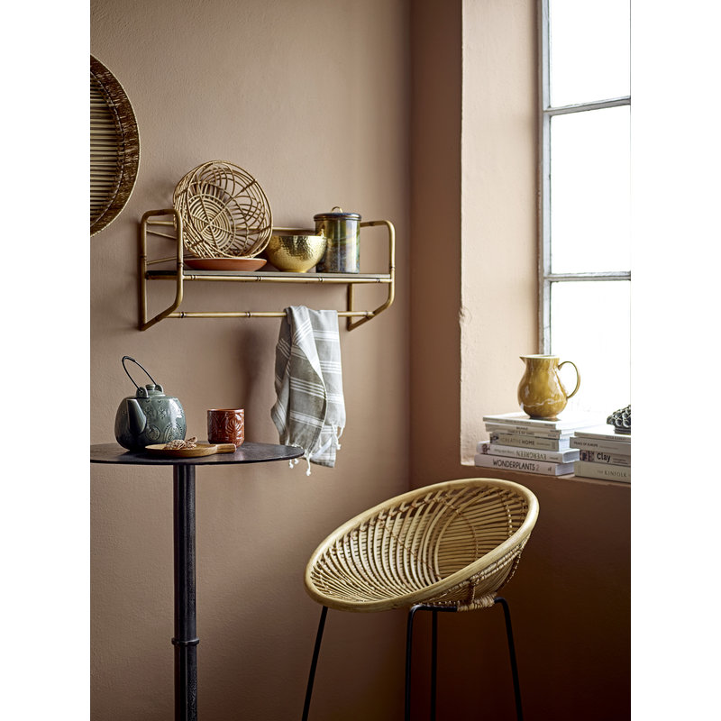 Bloomingville-collectie Barkruk Yonne naturel rattan