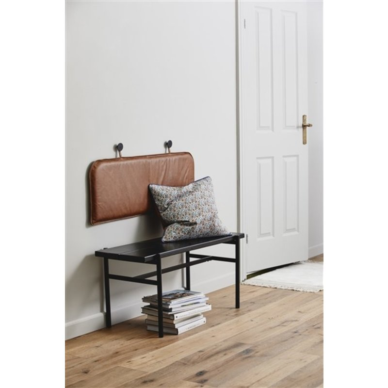 Nordal-collectie TICINO, back seat f/wall, brown leather