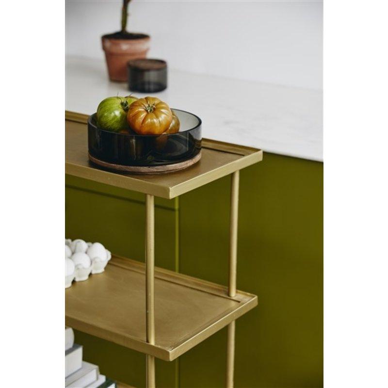 Nordal-collectie Trolley KAMO met 4 planken goud