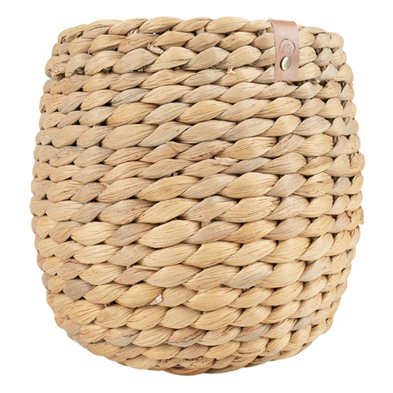 Zusss-collectie Tough woven basket water hyacinth 15x15cm natural