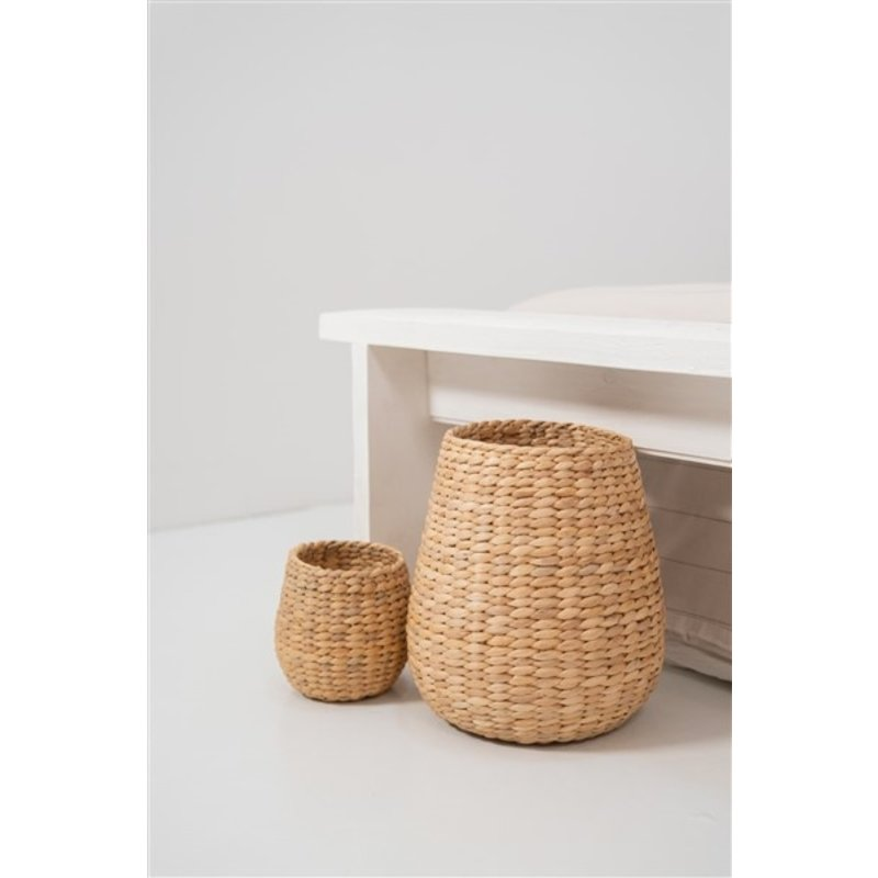Zusss-collectie Tough woven basket water hyacinth 25x25cm natural