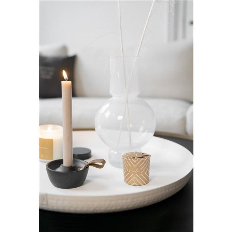 Zusss-collectie Glass ball vase 17x30cm white