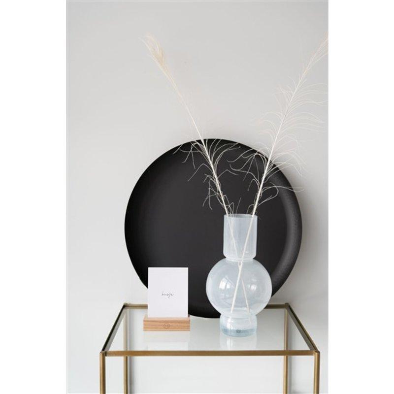 Zusss-collectie Glazen bolvaas 17x30cm wit