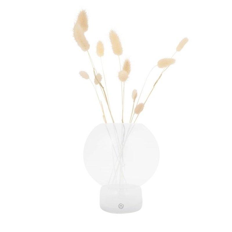 Zusss-collectie Glass ball vase 17x19cm white