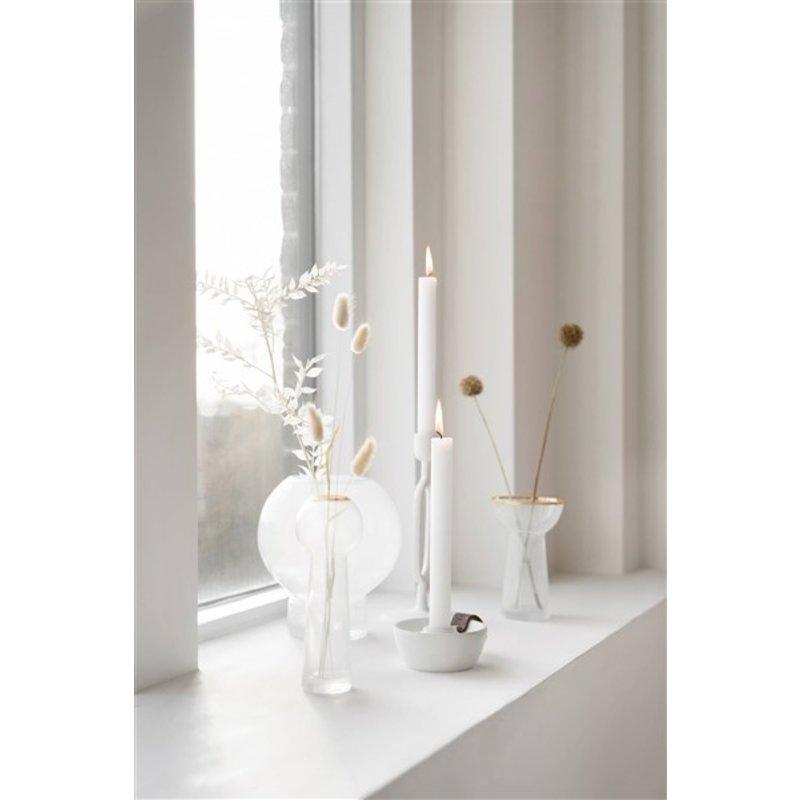 Zusss-collectie Glazen bolvaas 17x19cm wit