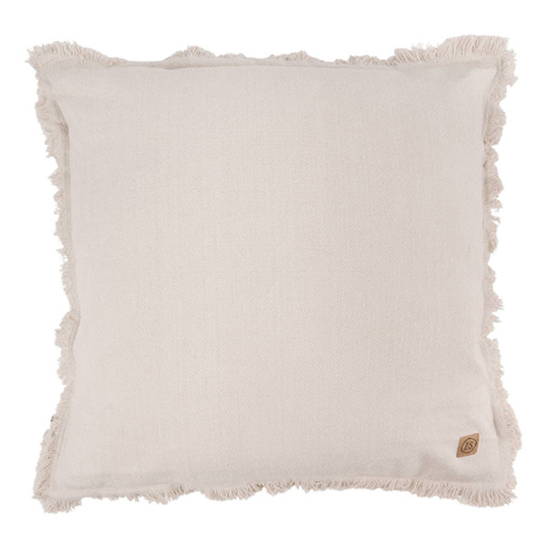 Zusss-collectie Cushion with fringes 45x45cm chalk