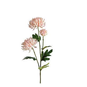 Mr Plant Kunstbloem Chrysant 3 bloemen roze 60 cm