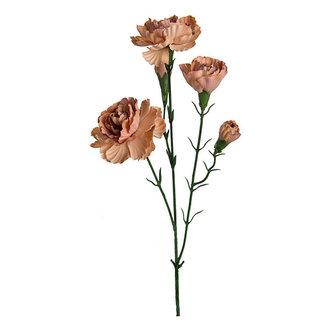 Mr Plant Kunstbloem Anjer bruin 65 cm