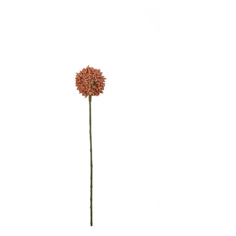Mr Plant-collectie Kunstbloem Allium (sierui) oranje 48 cm