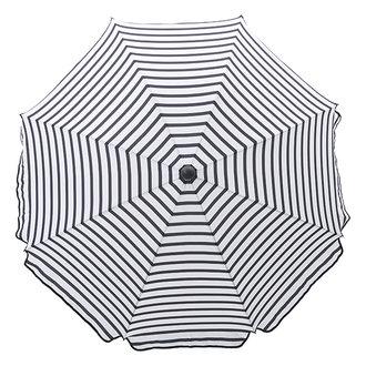 House Doctor Parasol Oktogon zwart wit gestreept 180 cm
