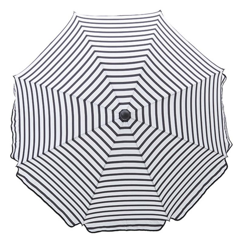 House Doctor-collectie Parasol Oktogon black and white striped 180 cm