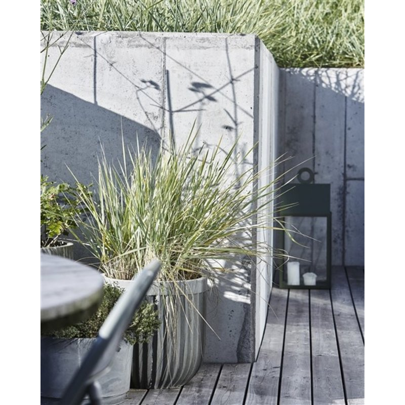 House Doctor-collectie Planter Concrete light grey set of 2