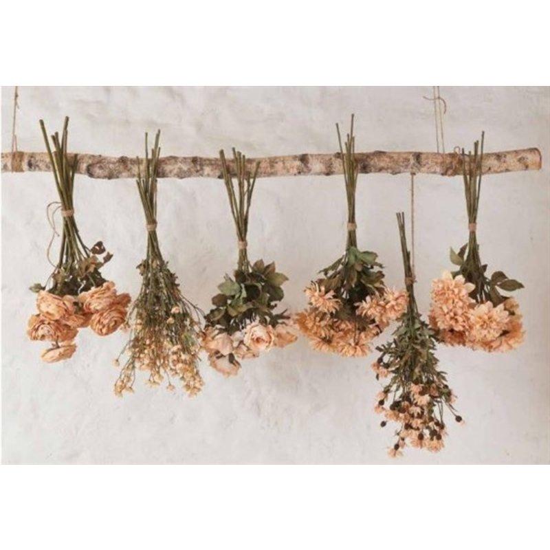 Mr Plant-collectie Kunstbloem Chrysant 1 bloem beige 55 cm
