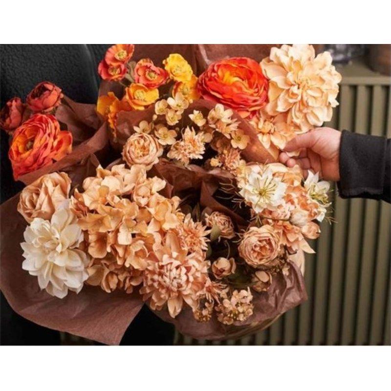 Mr Plant-collectie Artificial Chrysanthemum twig 1 flower beige 55 cm