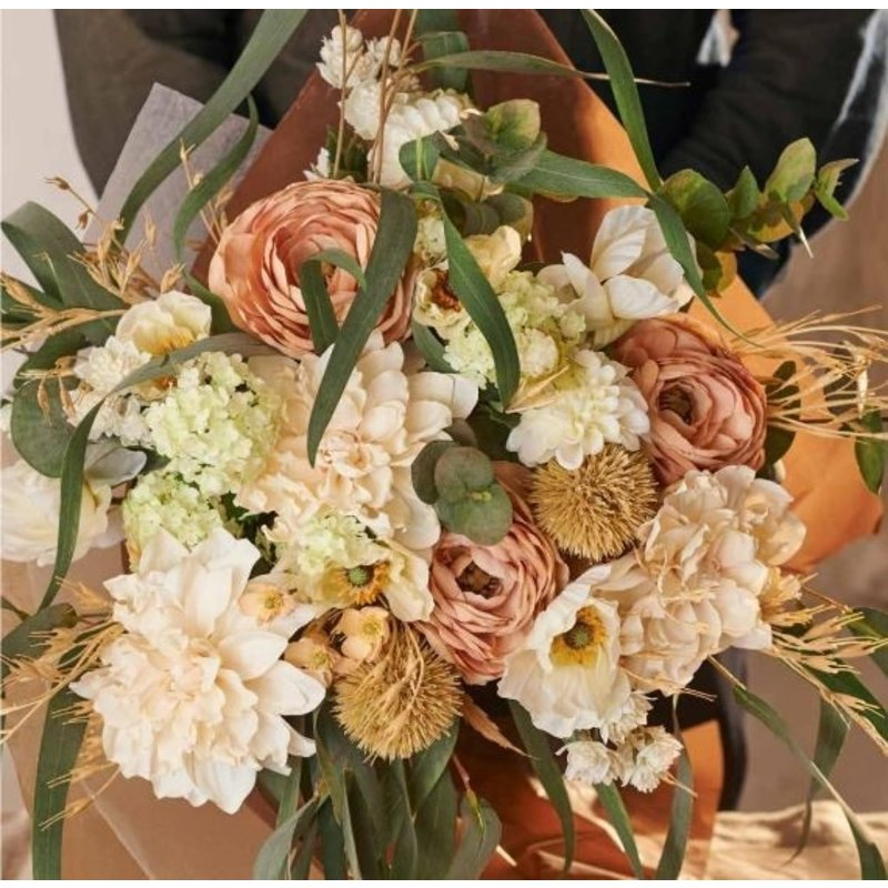 Mr Plant-collectie Kunstbloem Distel beige 70 cm