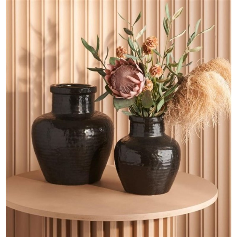 Mr Plant-collectie Kunstbloem Scabiosa (duifkruid) bruin 60 cm
