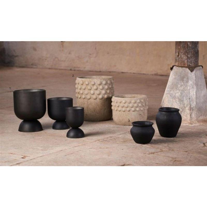 Mr Plant-collectie Flowerpot Sany metal black set of 3