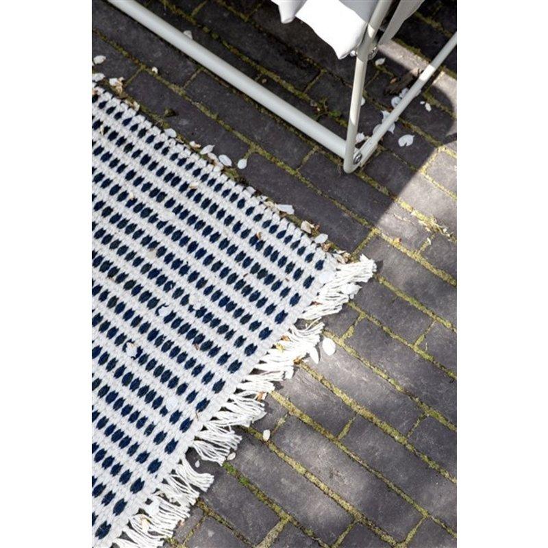 ferm LIVING-collectie Vloerkleed Way offwhite/blauw 200x140 cm