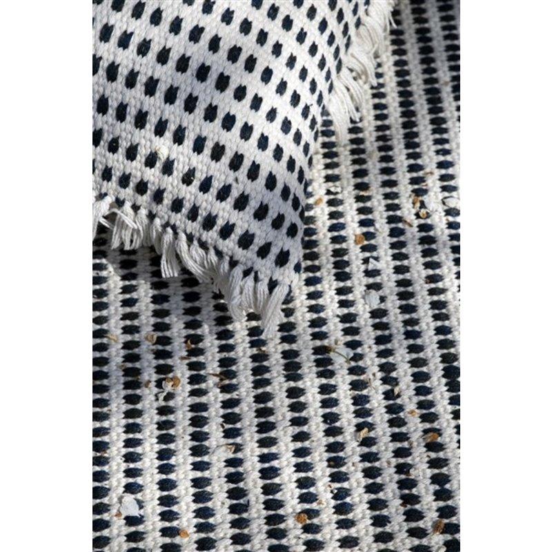 ferm LIVING-collectie Kussen Way offwhite/blauw 50x70 cm