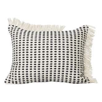 ferm LIVING Way Cushion - Off-White/Blue 50x70 cm