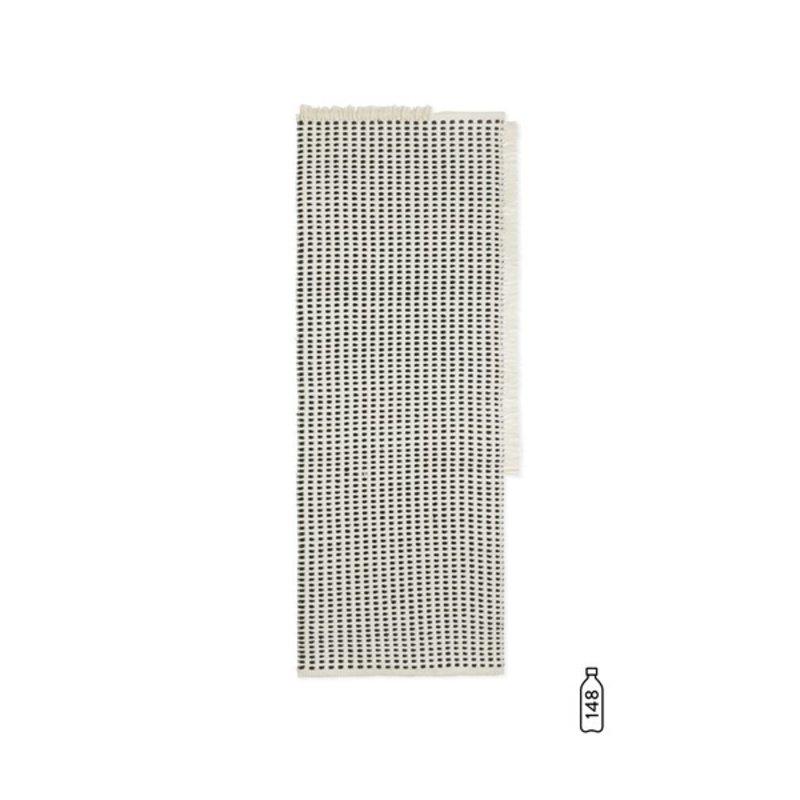 ferm LIVING-collectie Loper Way offwhite/blauw 70x180 cm