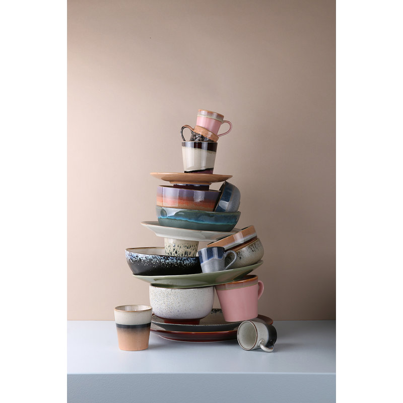 HKliving-collectie Keramiek seventies espresso mok Ocean