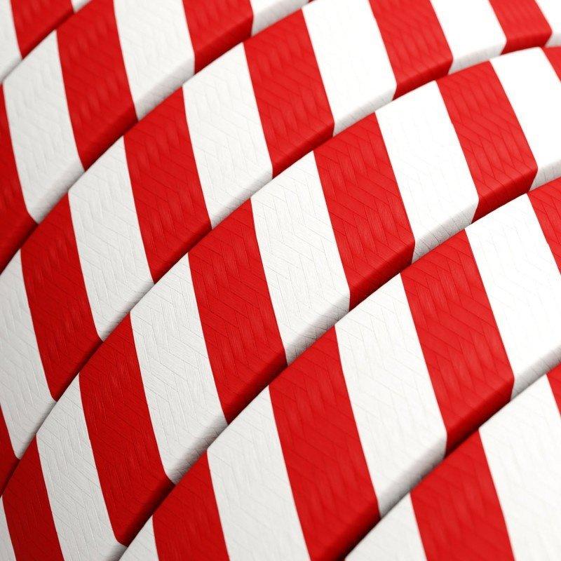 STUDIO DEENS-collectie Outdoor lichtsnoer 12,5m met 10 fittingen rood/wit