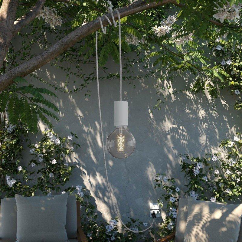 STUDIO DEENS-collectie Outdoor lichtsnoer 5m met fitting & stekker grijs