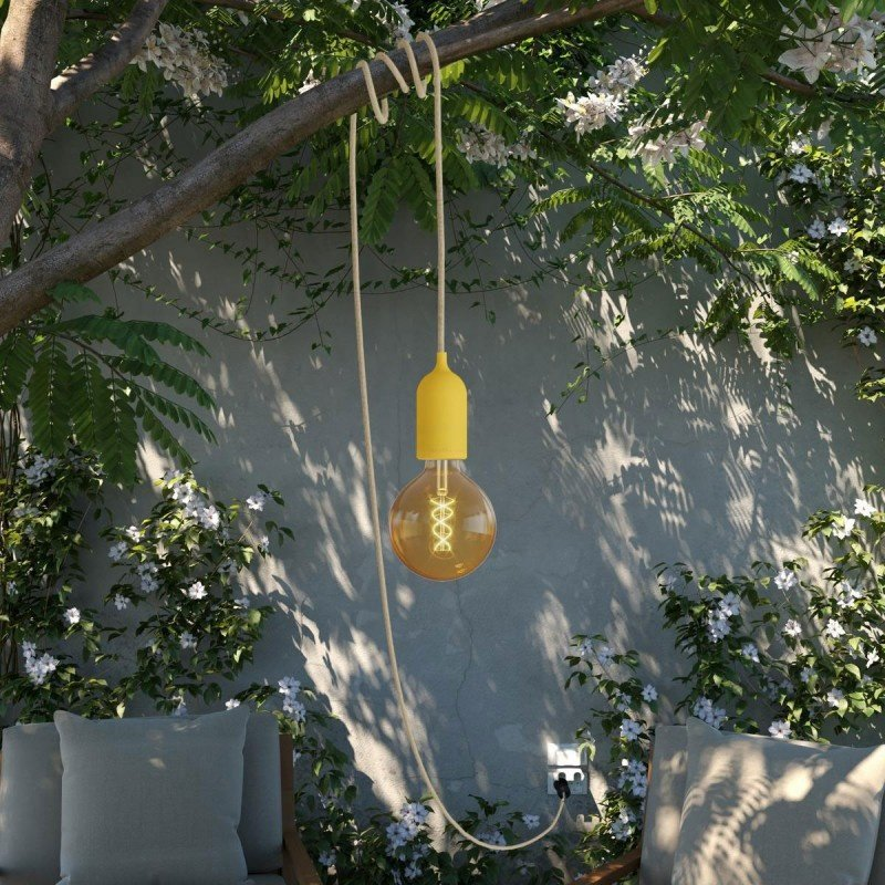 STUDIO DEENS-collectie Outdoor lichtsnoer 5m met fitting & stekker geel