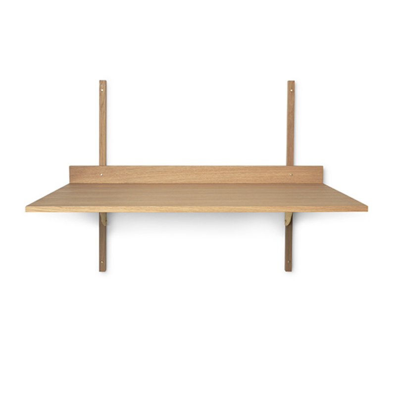 ferm LIVING-collectie Sector desk - Oak - Brass