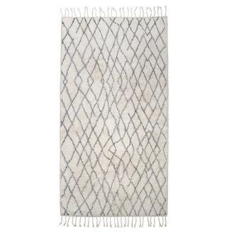 HKliving Badmat zwart wit geruit 90x175 cm