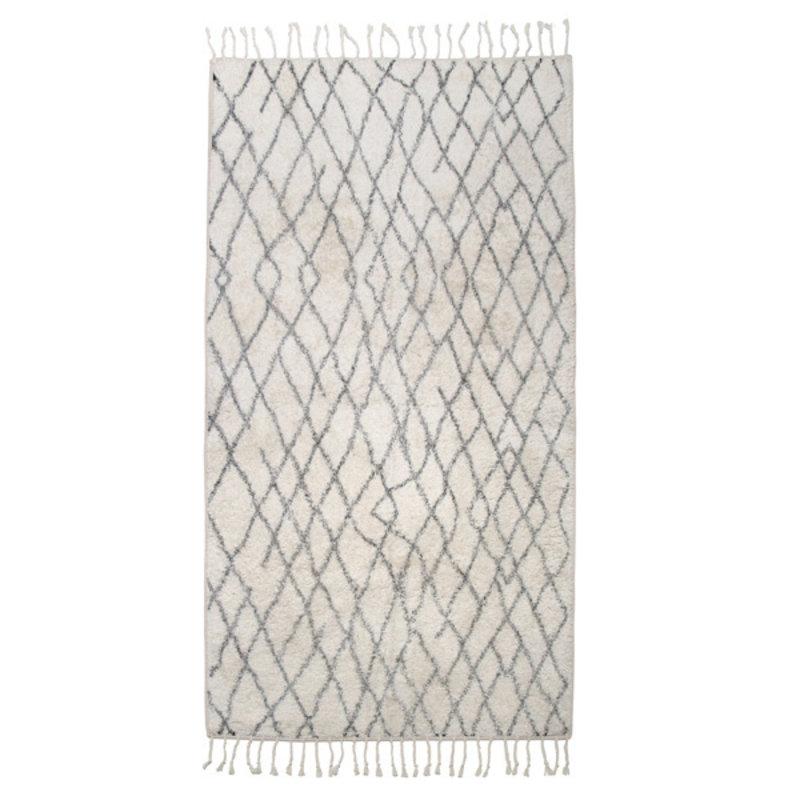 HKliving-collectie Bath mat black and white checks (60x90) - Copy