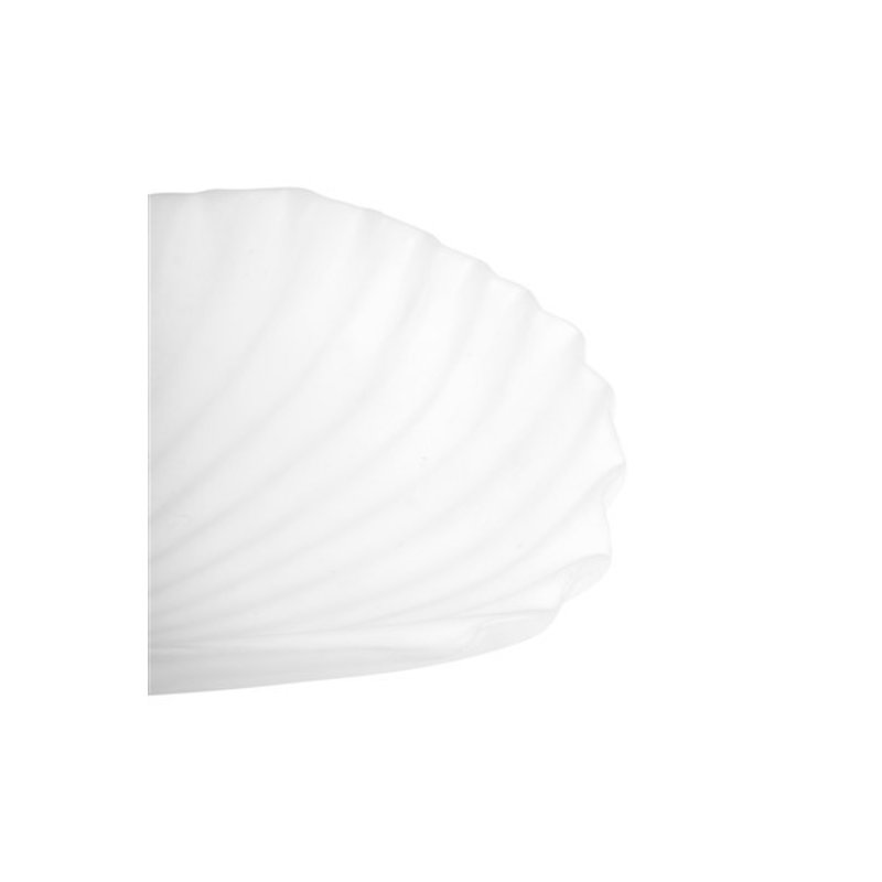 Zusss-collectie Bowl shell ceramic white