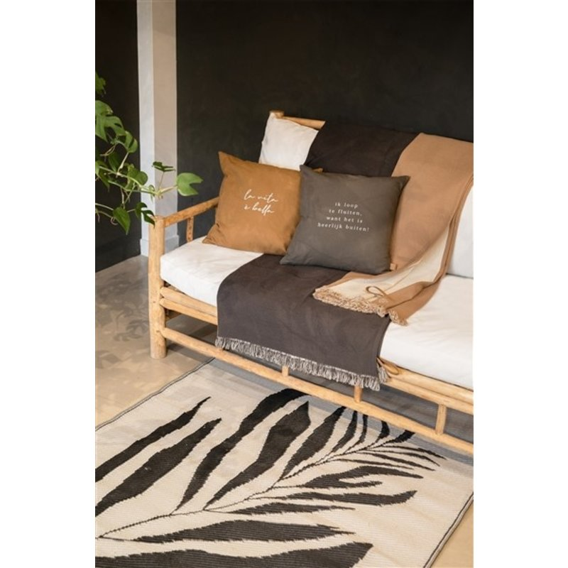Zusss-collectie Outdoor cover twig 120x180cm sand