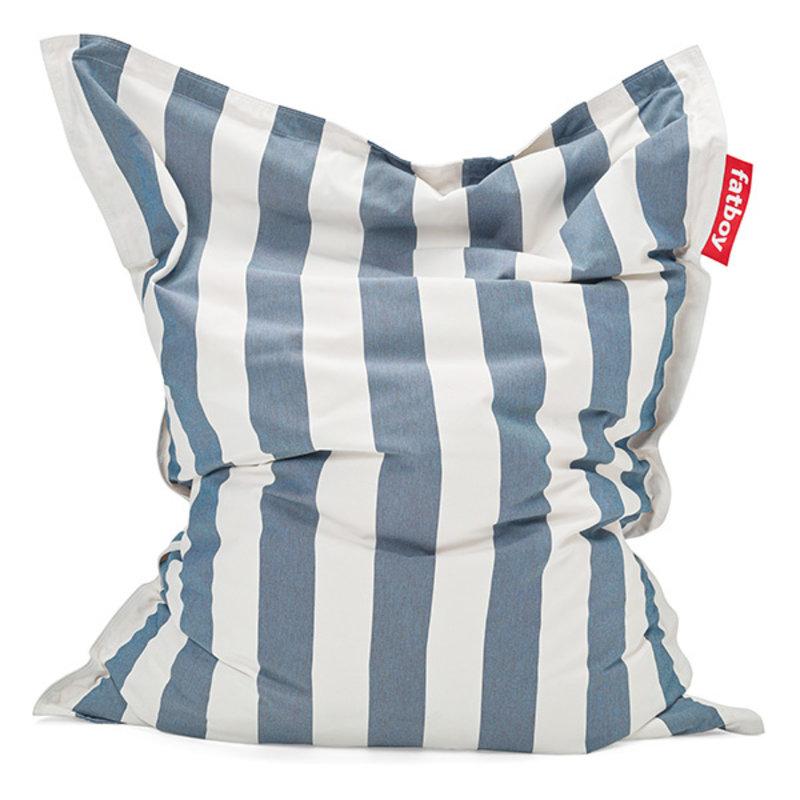 Fatboy-collectie The original outdoor beanbag stripe ocean blue