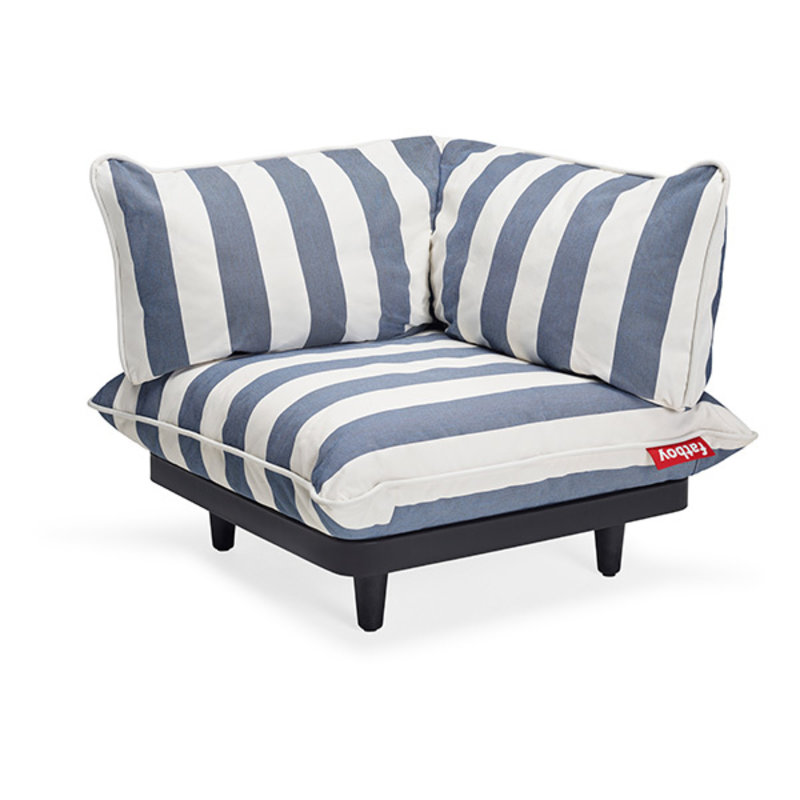 Fatboy-collectie  paletti corner seat stripe ocean blue