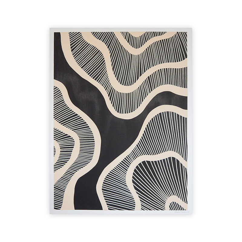 WHY-collectie Hyperspace black 50x65 cm