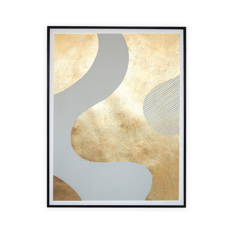 WHY-collectie Feeling golden I with black frame 70x100 cm