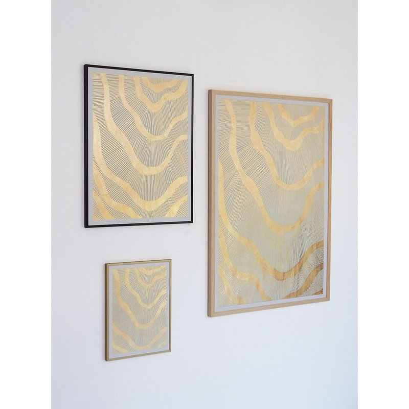 WHY-collectie Galactic with gold frame 50x65 cm