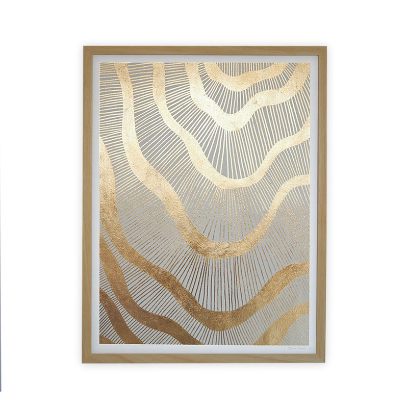 WHY-collectie Galactic with wooden frame 70x100 cm