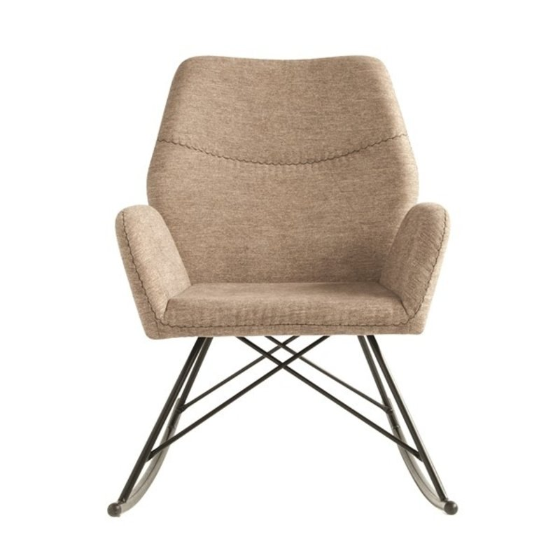 Bloomingville-collectie Pal Rocking Chair Brown Polyester