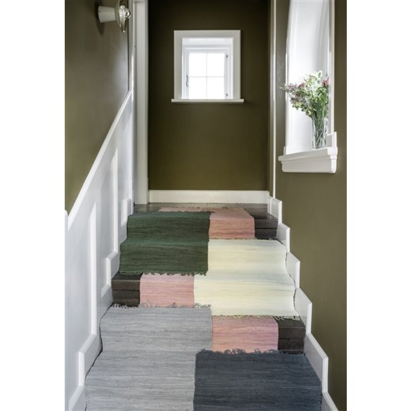 Bungalow-collectie Rug Chindi mat Rose