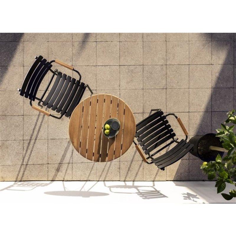 Houe-collectie ReCLIPS tuinstoel met bamboe armleuning zwart