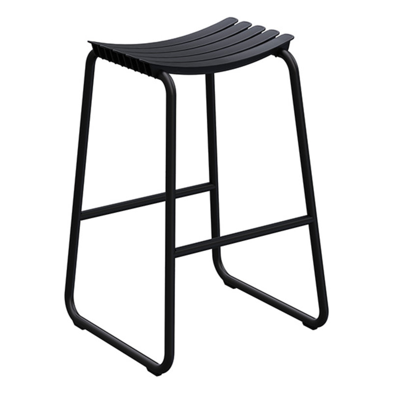 Houe-collectie ReCLIPS Bar Stool - Black PCP lamellas