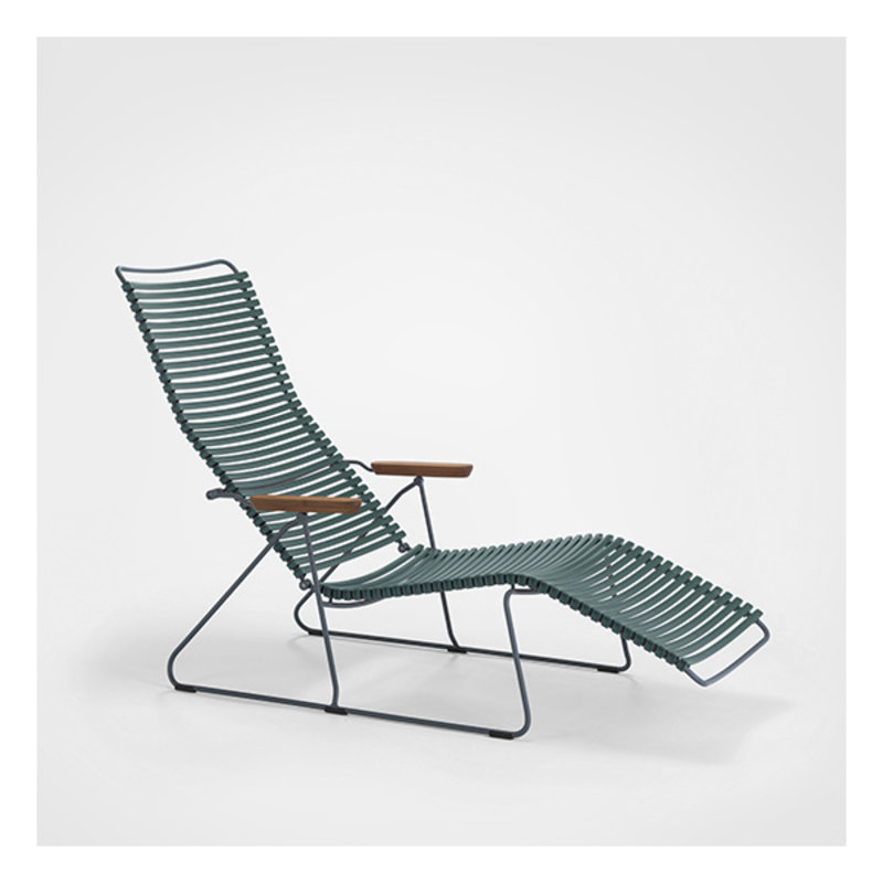 Houe-collectie CLICK Sunlounger with Pine Green lamellas